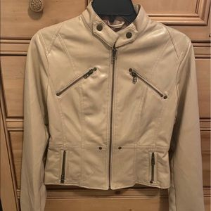 Faux Leather Tan Jacket